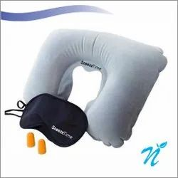 3 in 1 Travel Kit Set (Neck Pillow, Ear Buds, Eye Mask)