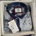 Semi-formal Denim Printed Shirt - 3778