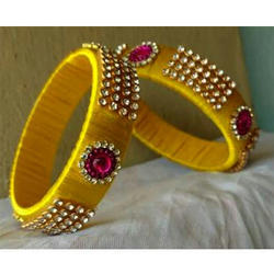 Yellow Thread Bangle