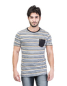 Stylish Striped Half Sleeve T-Shirt For Men
