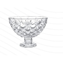 Roxx Mirage Footed Glass Bowl