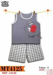 Cotton Casual Wear KIDS BOYS BABA SUITS, Age: 6 Month - 4 Years