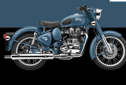 Classic Squadron Blue Royal Enfield Bike Ranjeet Motorcycles
