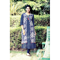 Ladies Rayon Kurtis In Double Layer