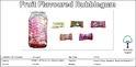 Fruit Flavored Center Filled Bubblegum, Packaging Type: Plastic Jar