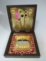 Shreenathji Gold Plated Photo Frame Box