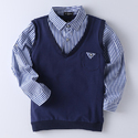 Cool Navy Shirt Style Sweater