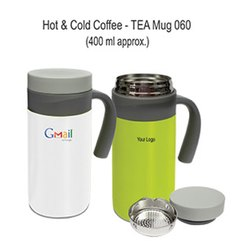 SS and Plastic 060 Hot Cold Coffee Tea Mug, For Office, Capacity: 400 Ml Approx