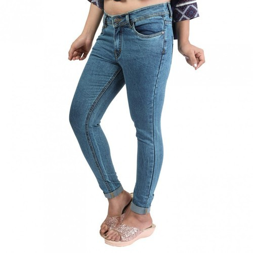 0f33eef2a0 Women's Stretchable Denim Slim Fit Blue Colored Jeans, Rs 395 /pair ...