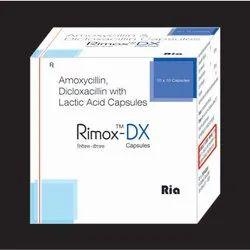 Amoxycillin 250mg, Dicloxacillin 250mg,  with Lactic Acid 2.5 Million Spores