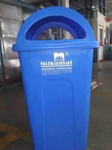 Blue/ Green ABS Neelkamal Dustbin, Size: 100 ltr