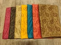 Embroidered Tussar Silk Saree