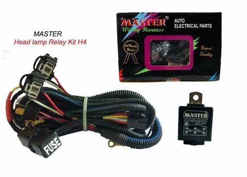 Head Lamp Relay with Wiring Harness - Master Industries ... Lamp Wiring Relay For on
