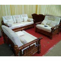 Indoor Wooden Sofa Set