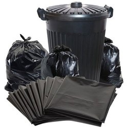 Black Plain Garbage Bag, Capacity: 500gm to 10kg