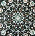 Fashionable Black Marble Inlay Work Dinning Table Top