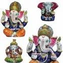 Ganesha Artifacts Colourful Meenakari Ganesha Wedding Gift