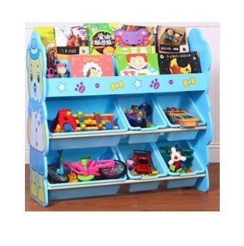 UberLyfe Medium Toy Storage Bins Kids Cabinet Plastic Basket Organizer For  Play School   2 Shelf