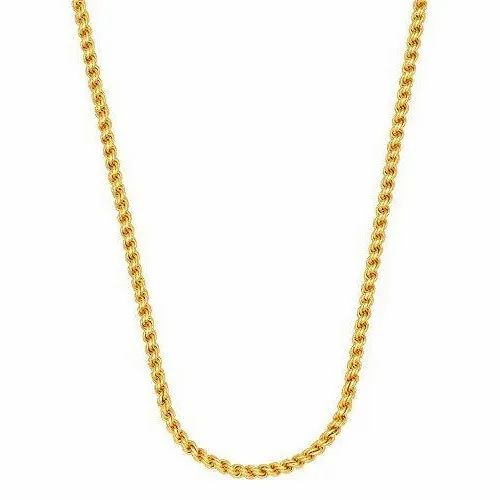 Brass Golden Casual Wear Gold Plated Chains
