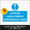 Large Lockout Wall Signs