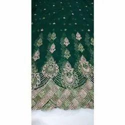 Green Heavy Glitter Work Fabric