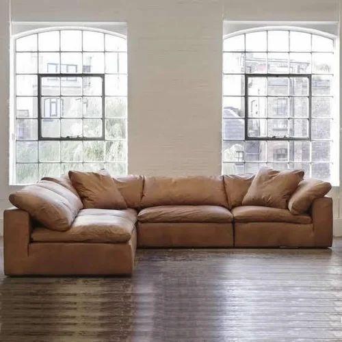 L Shape Wooden Designer Sofa Set Rs