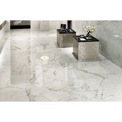 Imported Marble Metro White Marble Floor Tile, Thickness: 20 mm, for Flooring