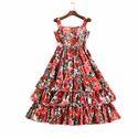 Ladies Ruffle Short Dress