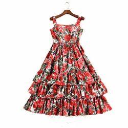 Party Wear Ladies Ruffle Short Dress