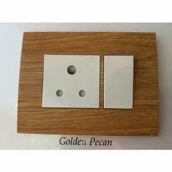 Rectangular Plastic Golden Pecan Electric Switch