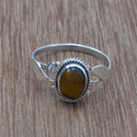 925 Silver Tiger Eye Gemstone Light Weight Jewelry Ring