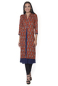 Ritzzy Red Double Layer  Rayon Kurti