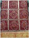 Chunari Printed Rosy Silk Saree
