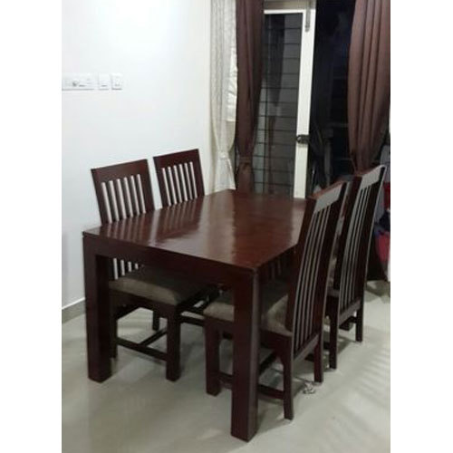 Brown 4 Seater Dining Table Rs 15500 Set Majestic Furniture Palace Id 16344183573