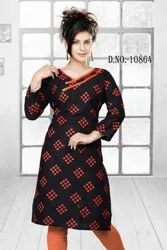 Lords Multicolor Cotton Kurti, Size: L to XXL, Wash Care: Dry clean