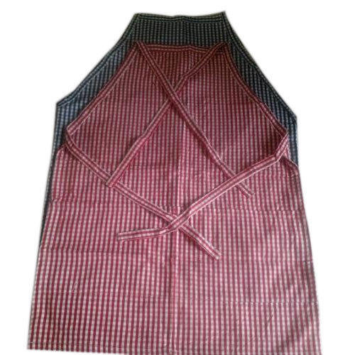 Cotton Check Kitchen Aprons