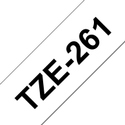 Brother TZe-261 Labelling Tape Cassette  Black on White, 36mm x 8m