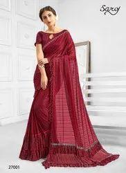 Red-Beige Fancy Ladies Saree