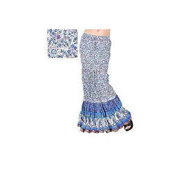 Floral Fish Cut Long Skirts