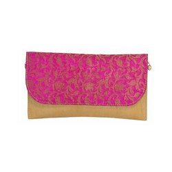 Azzra Pink Ethnic Pink Sling Clutch