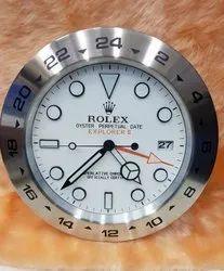 Rolex White Wall Clock