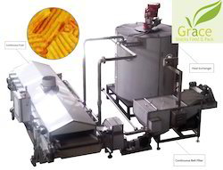 Continuous Banana Chips Fryer Machine