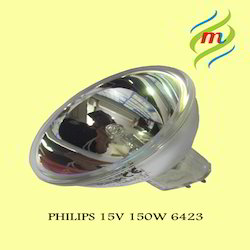 Philips 6423 150W GZ6.35 15V 1CT/10X5F Halogen Reflector Lamps