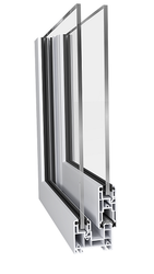 Pristine White Aluplast 60mm Slim Sliding Window And Door