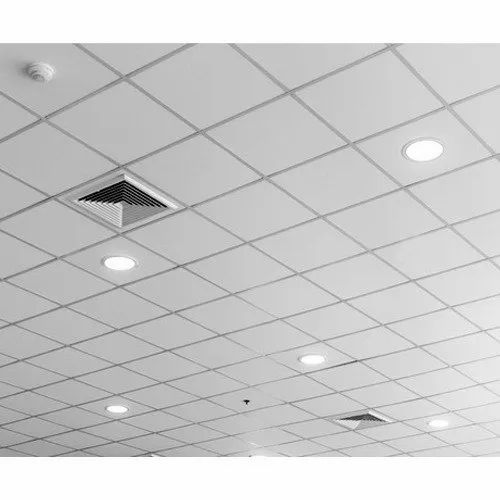 White Galvanised Grid Ceiling for Office & Hospital, Thickness: 8 mm