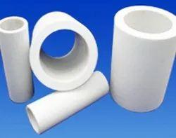 Round Square White TEFLON & PTFE Components