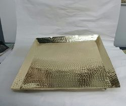 Brass Hammered Tray