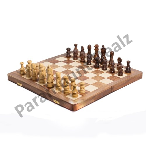 16 Inches Foldable Wooden Chess Board And Japanese Chess Coins