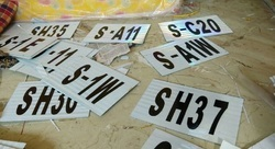 Railway Signaling Number Plate
