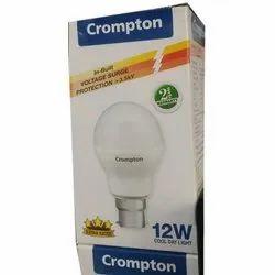 12 W Crompton LED Bulb, for Home, Base Type: B22